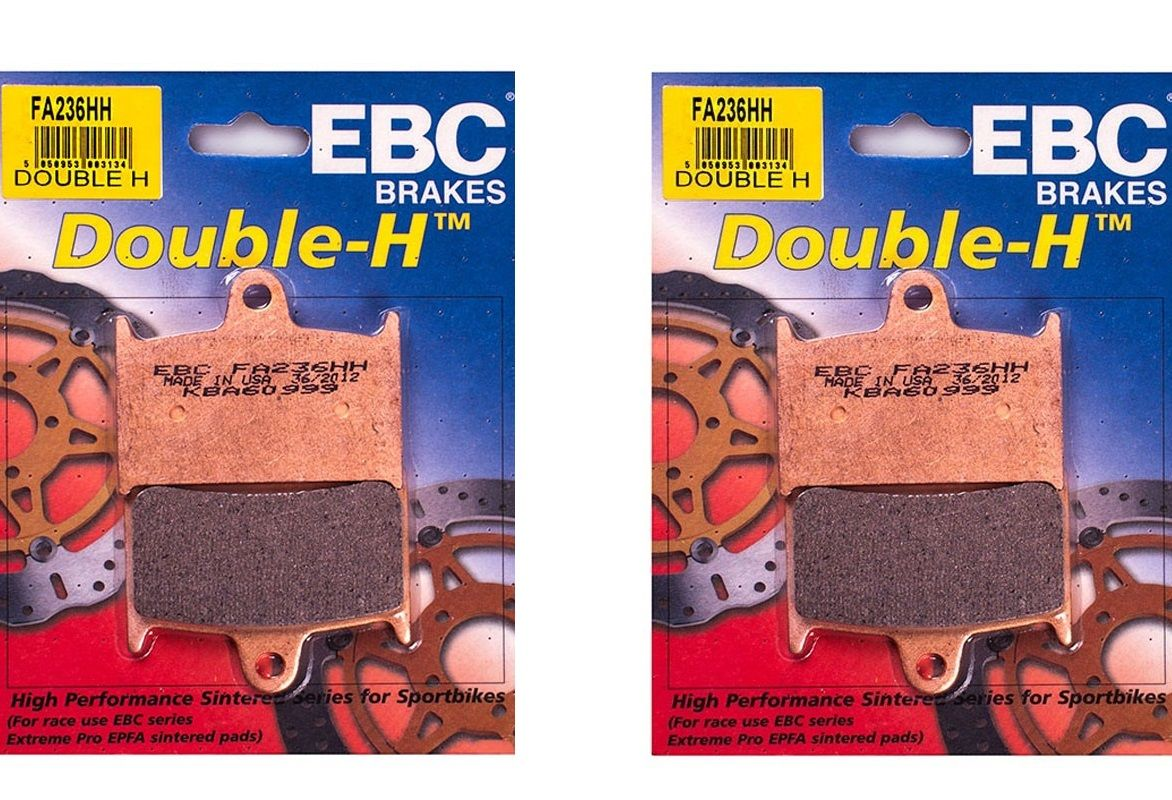 "DAYTONA 600 650: ""FULL FRONT SET"" EBC Sintered ""HH"" Brake Pads FA236HH [2xpair]"