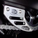 DAYTONA 675: R&G Toe Chain Guards - Aluminium - Silver R&G TG-0002A1