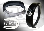 "STREET TRIPLE 07-08: R&G ""Supermoto Style"" Oval Exhaust Protector 'Can Cover' (EP-0005)"
