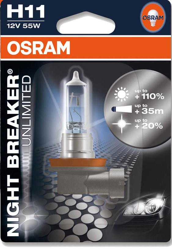 tiger sport 1050 osram night breaker unlimited h11 up to 110 more light on the road single blister. Black Bedroom Furniture Sets. Home Design Ideas