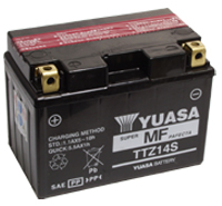 YUASA TTZ-14S [AGM] Sealed Maintenance Free 'High Amperage' Battery. [Fits YTX-12 & YTX14 Battery Tray!]