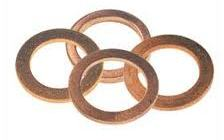 Copper Washers for banjo bolts. 14mm O/D, 10mm I/D, 1.4mm Thick [4 Pack]