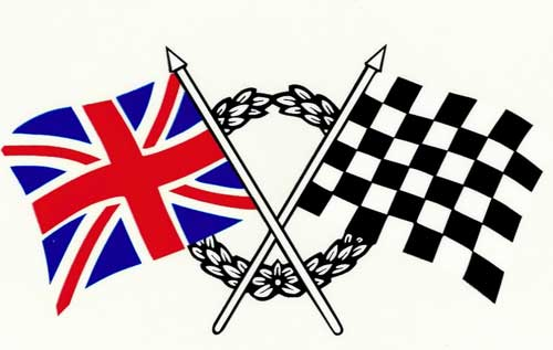 Crossed Flags Decals 1 Pair New Stock High Quality Made In