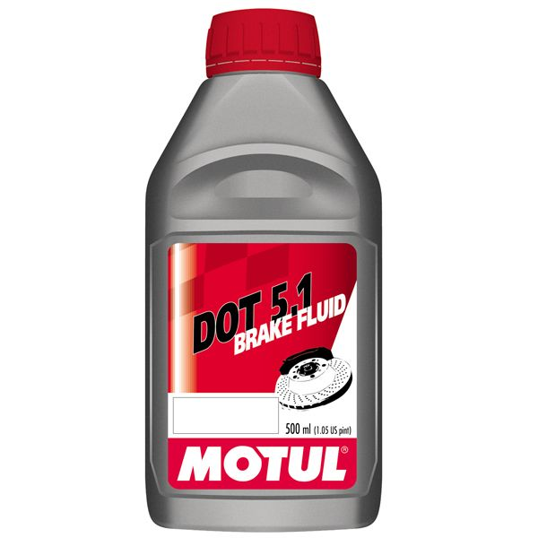 MOTUL High Performance DOT 5 1 Brake & Clutch Fluid: ABS Systems  Recommended  500ml