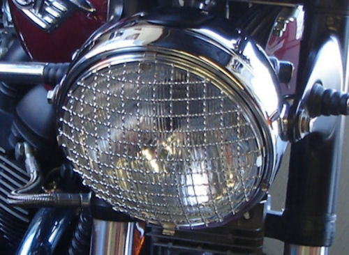 Triumph Thunderbird Commander >> Triumph Bonneville & Thruxton 7 Headlamp Stainless Steel Stone Guard. New Stock