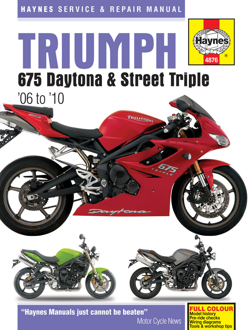 TRIUMPH DAYTONA 675. Haynes Manual on