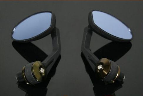 Triumph Moto Fit Salt Lake Bar End Mirrors Blue Tint